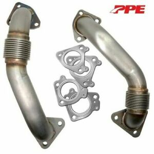 Ppe Replacement Bolt On Up Pipes For 2001 2015 Gm 6 6l Duramax Diesel 116120000
