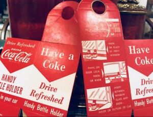 2 Two Coke Drink Holders Unbent Unused Htf Coca Cola Mem Merch See Pics