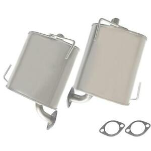 Pair Of Replacement Exhaust Mufflers Fits 2009 2013 Forester 2008 2011 Impreza