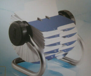 Rolodex W 500 Cards tabs A z Chrome In Original Box