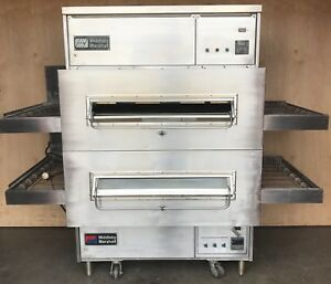 Middleby Marshall Ps360wb Double Stack Direct Fired Gas Conveyor Pizza Oven