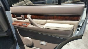 97 Lexus Lx 450 Tan Right Rear Interior Door Trim Panel Passenger Rear Leather