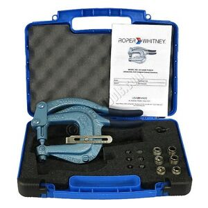Roper Whitney Xx Hand Punch Kit Includes Plastic Case And 7 Punch And Dies