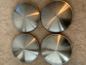 15 Stainless Steel Racing Disc Full Moon Hubcaps Hot Rod Rat Rod New Set Of 4