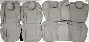Fits 2014 2018 Subaru Forester Premium Gray Perf Leather Seat Upholstery Set