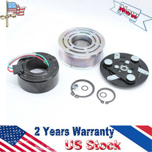 New A C Ac Compressor Clutch Kit Pulley Bearing Coil Plate Fit For 07 14 Honda