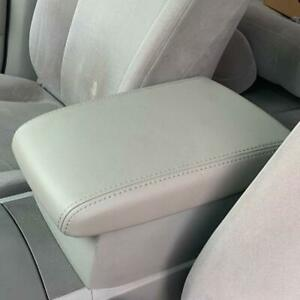 For 2008 2013 Toyota Highlander Gray Leather Center Console Lid Armrest Cover