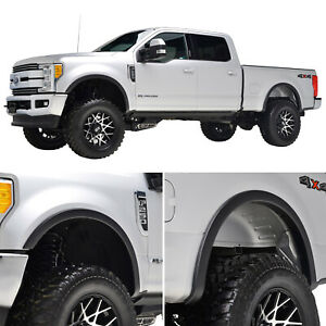 Fits 17 18 Ford F250 4pcs Abs Textured Satin Black Fender Flares