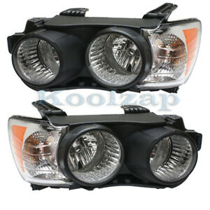 12 16 Chevy Sonic Front Headlight Headlamp Halogen Head Light Lamp Set Pair
