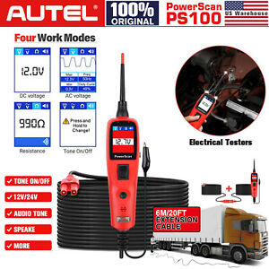 Autel Powerscan Ps100 Electrical Testers 12v 24v Diagnosis Circuit Test Leads Us