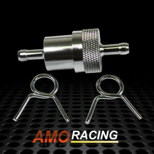 Chrome Universal Inline Fuel Filter 1 4 In Out Fit Chevy Ford Mopar Hot Rods