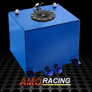 5 Gallon 19l Blue Polished Aluminum Racing drift Fuel Cell Tank