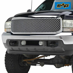 Full Upper Packaged Grill Front Hood Replacement Grille For 99 04 Ford F250