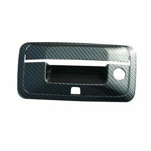 For 2014 2018 Chevy Silverado Black Carbon Fiber Look Abs Tailgate Handle Cover
