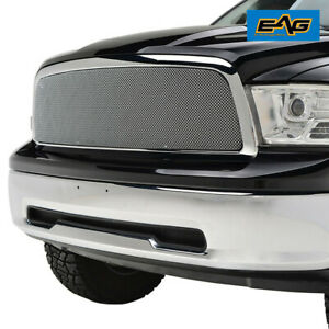 Fit For 2009 2012 Dodge Ram 1500 Chrome Stailnless Steel Wire Mesh Grille Shell