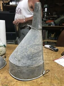 Vintage Galvanized Metal Gas Funnel Rustic Decor Steampunk Industrial Country