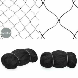 Bird Mesh Net 50x50ft Multi Filament Protective For Poultry Games And Pens Black