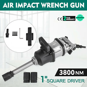3800 Ft lbs 1 Air Impact Wrench Gun Long Shank Commercial Truck W 2 Sockets