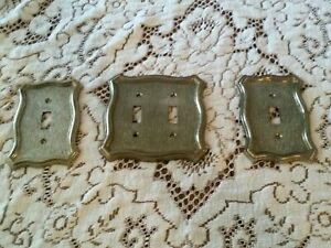 Vintage American Tack Hardware 1968 Metal Double Single Light Switch Covers