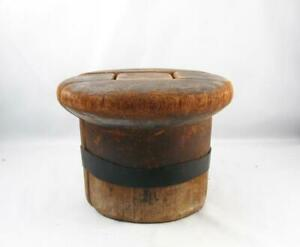 Antique Vintage Wooden Hat Mold Block Millinery Form In 5 Parts
