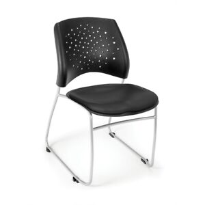 Stars Stack Vinyl Chair Black
