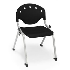 Rico Student Stack Chair Without Arms Black