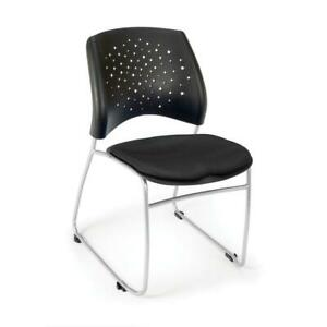 Ofm Stars Series Model 325 Fabric Stack Chair Black