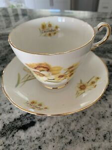 Regency Bone China England Tea Cup And Saucer Of The Month December