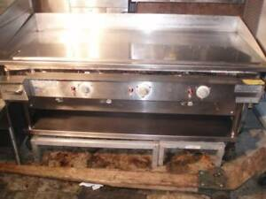 Keating 5 Ft Gas Miraclean Chrome Plated Flat Top Mirror Clean Restaurant Grill