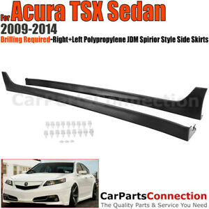 Side Skirts 2009 2014 For Acura Tsx Sedan Rocker Molding Aerodynamic Trim