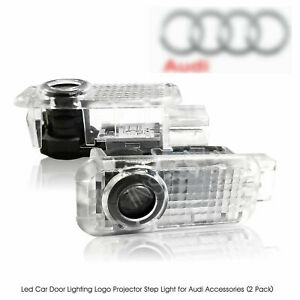 2 Audi Led Door Logo Light Projector Welcome Courtesy Lighting A3 A4 A6 A8 Q5 Q7