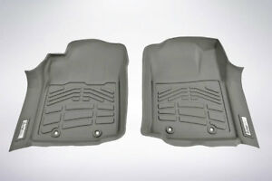 2 piece Front Row Gray Floor Mats For 2012 2015 Toyota Tacoma Double Cab