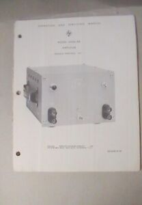 Hp Amplifier 450ar 450a Operating And Service Manual