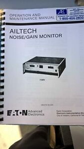 Eaton Ailtech 7380 Noise gain Monitor Operation And Manintenance Manual
