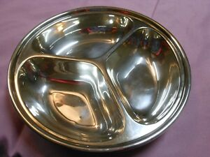 Vintage Walker Hall Sheffield 3 Part Silver Plate Serving Dish Baby Dish
