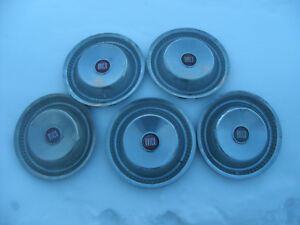 5 1955 1956 Buick Rat Rod 15 Hubcaps Wheel Covers Old Used Have Some Dings
