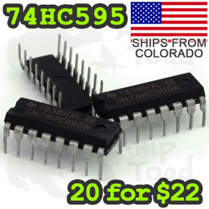 Sn74hc595n Bit shift Register For Clocks Leds Arduino Ttl Segment Displays