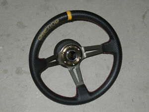 350mm Drifting Steering Wheel With Nissan S13 180sx Hub Momo Nardi