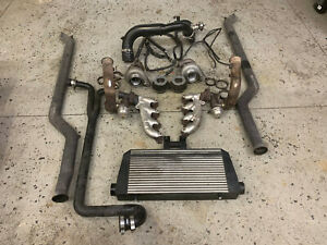 2010 2013 Chevy Camaro Ss Twin Turbo Kit Low Mount Comp Oil Less Turbos Tial Ls3