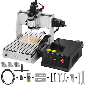 3 Axis Cnc 3020 Engraving Milling Machine Woodworking Desktop Chrome Plate Shaft