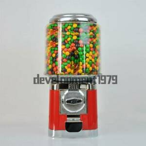New Bulk Vending Gumball Candy Dispenser Machine Wholesale Vending Products Red
