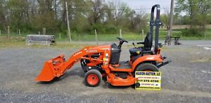 2017 Kubota Bx2380 Compact Loader Tractor W mower Only 115 Hours Warranty