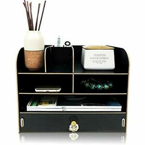 Desk Organizer With Drawer For Office Supplies Files Folders Mails Pens And