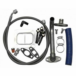 Fleece S300 S400 Turbo Installation Kit For 2001 2010 Gm 6 6l Duramax Diesel