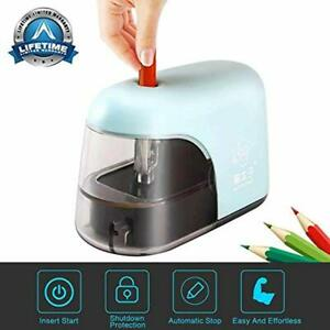Electric Pencil Sharpener Battery Operated Only Auto Safety Cute Mini For