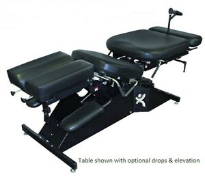 Chiropractic Manual Flexion Table W Breakaway Tilt Head Adjustable Cushions