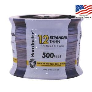 Southwire 500 ft 12 awg Stranded Copper Thhn Wire By the roll Black 22964158