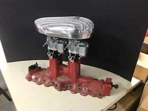1932 Roadster Thickstun Mercury Ford Flathead Intake New Stromberg 97 Fuel Block