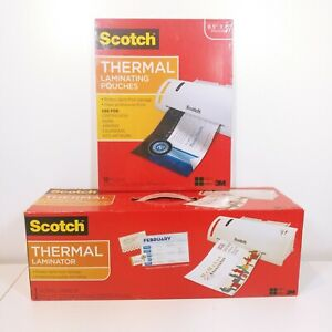 Scotch Thermal Laminator Laminating Machine 2 Roller System W 50 Pouches