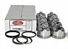 Sbc Pistons Moly Rings Set 8 030 4 030 Bore Flat Top For Chevy 350